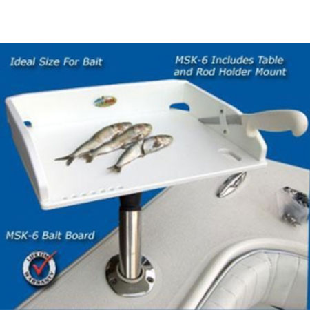 Bait Table14 X 10 Adjule Rod Holder Style
