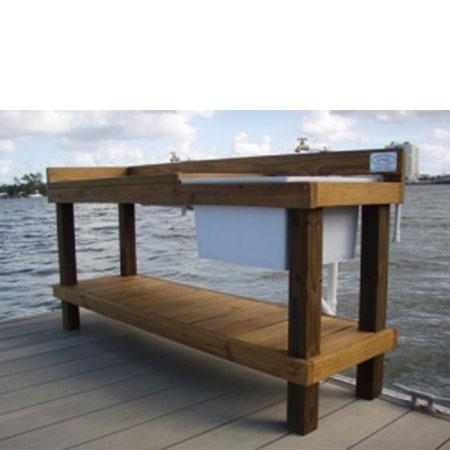 7' Standard Fillet Table with Sink - Florida Fillet